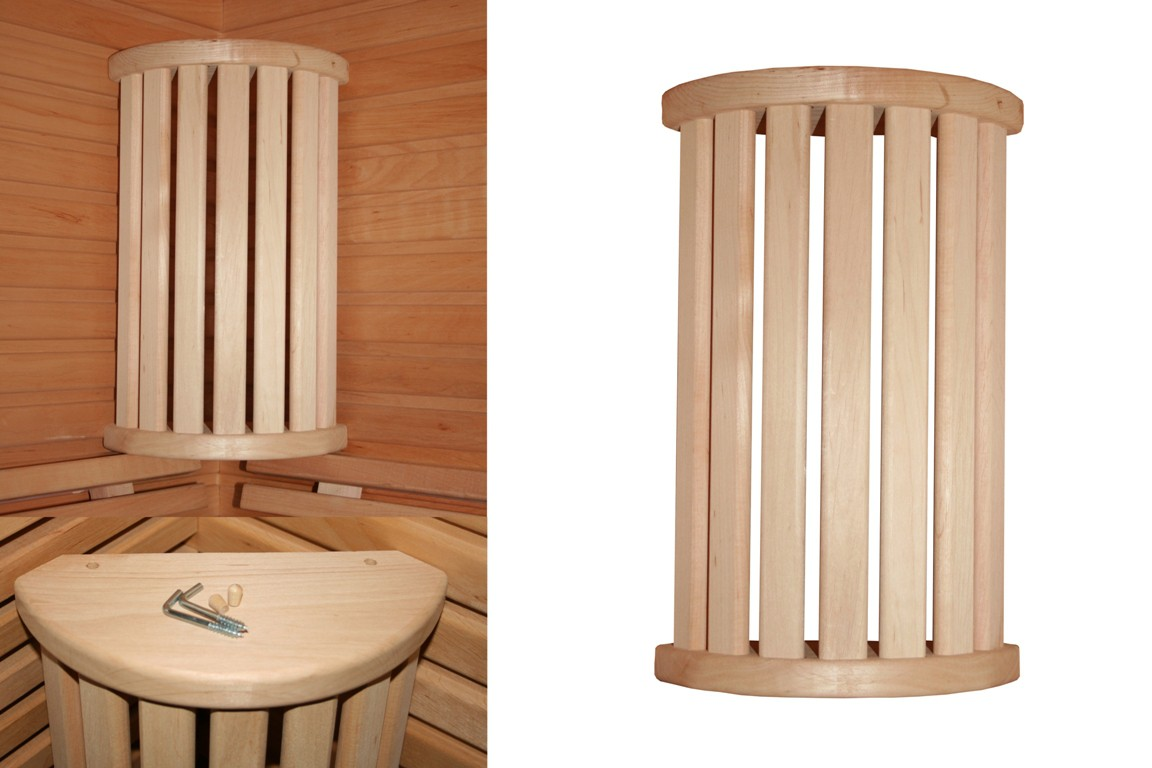holz ecklampenschirm r v klein blendschirm sauna. Black Bedroom Furniture Sets. Home Design Ideas